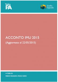 Approfondimento IMU 2015