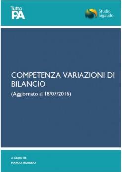 Competenza variazioni di bilancio
