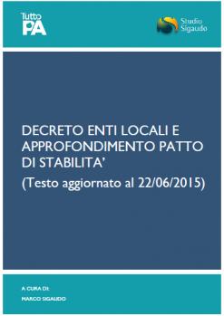Decreto Enti Locali e patto di stabilità