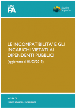 Incompatibilità e incarichi vietati agli enti pubblici
