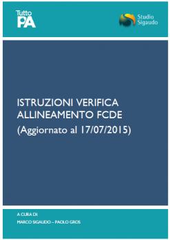 Istruzioni verifica FCDE