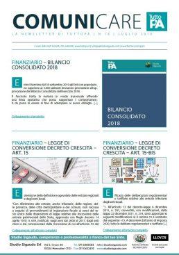 Newsletter 18-2019