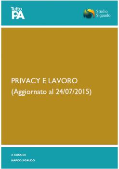 Privacy e lavoro