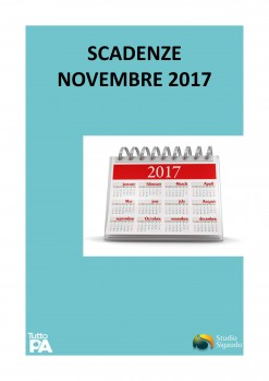 Scadenzario novembre 2017