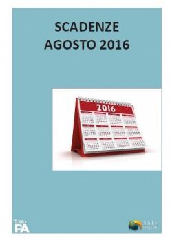 Scadenziario agosto 2016