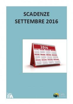 Scadenziario settembre 2016