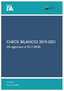 check bilancio 2019-2021