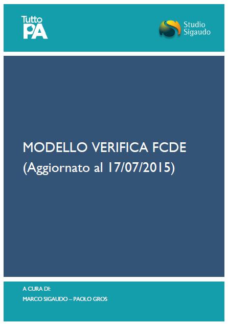 Modello verifica FCDE - copertina