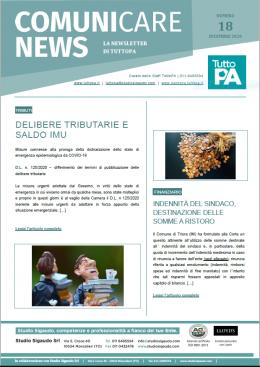 Newsletter 18-2020
