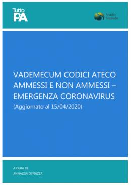 Vademecum codici ateco ammessi e non ammessi emergenza coronavirus